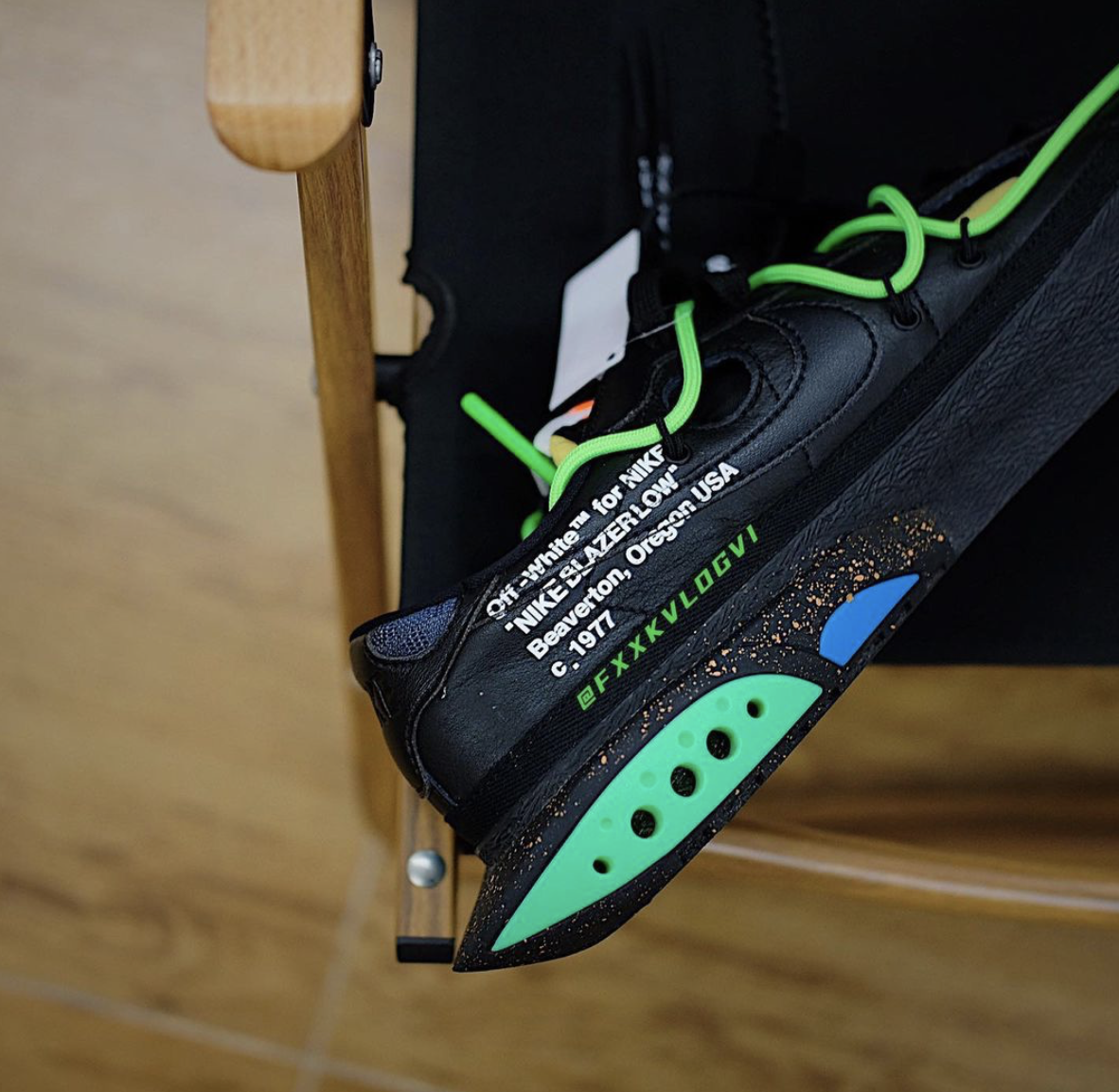 Off-White Nike Blazer Low Black Green Release Info Price