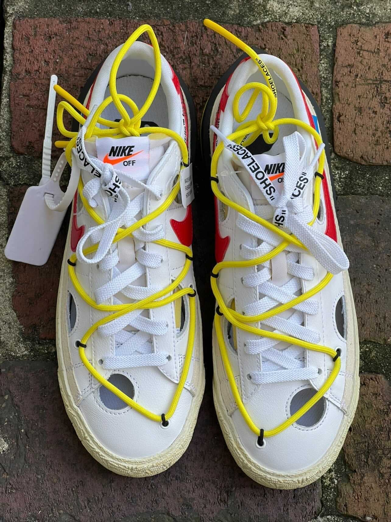 Off-White Nike Blazer Low White University Red DH7863-100 Release Details