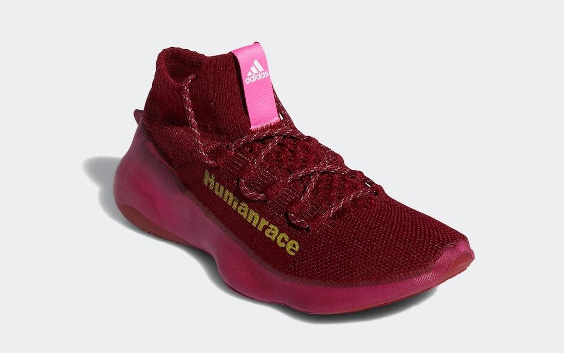 Pharrell adidas Humanrace Sichona Burgundy GW4879 Release Date Info