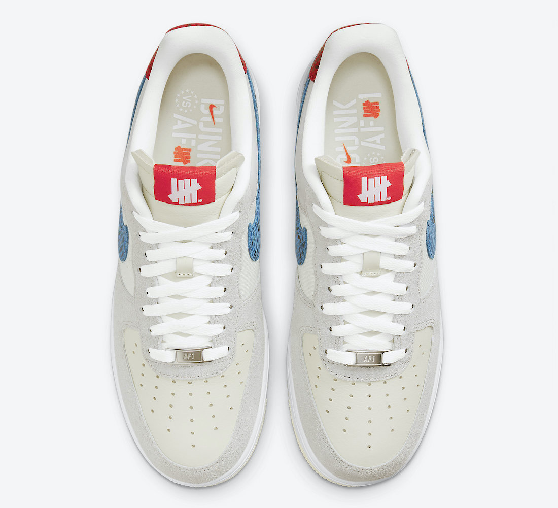 Undefeated Nike Air Force 1 5 On It DM8461-001 Release Date