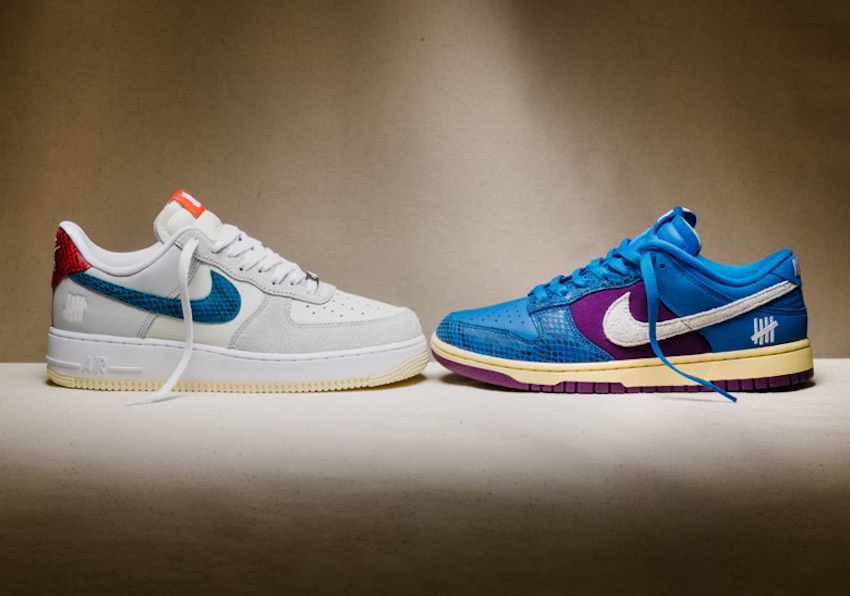 Undefeated Nike Dunk Low Air Force 1 Low 5 On It Release Date Info