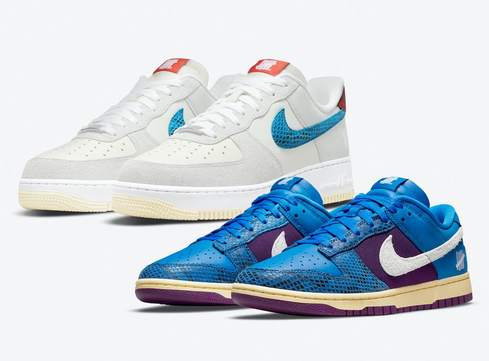 Undefeated Nike Dunk vs AF1 5 On It