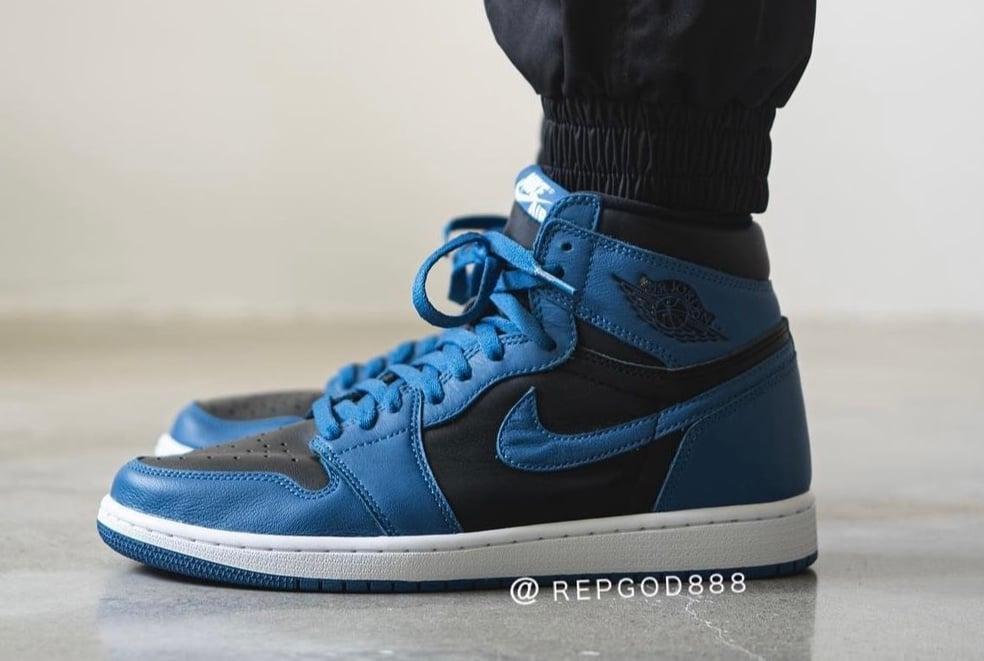 Air Jordan 1 Dark Marina Blue 555088-404 On-Feet