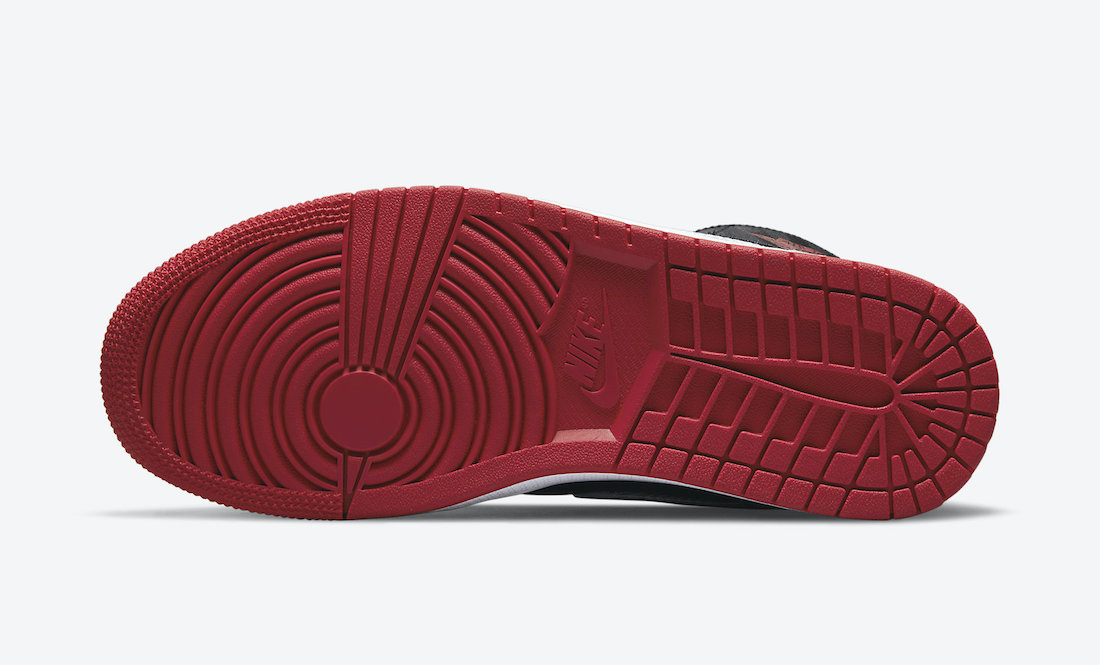 Air Jordan 1 Mid SE Utility Black White Red DD9338-016 Release Date Info