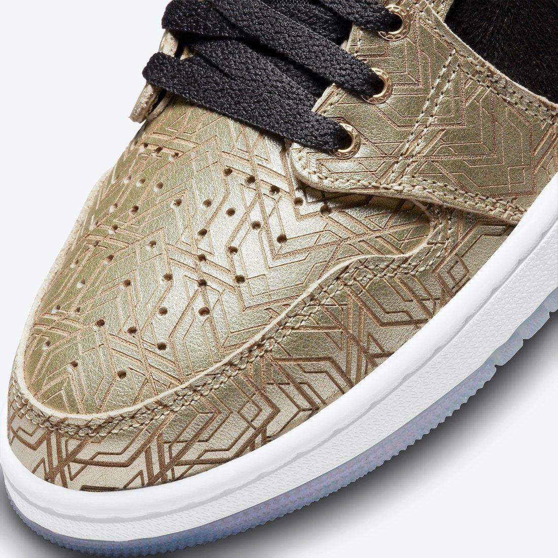 Air Jordan 1 Zoom CMFT Gold Laser DQ0659-700 Release Info Price