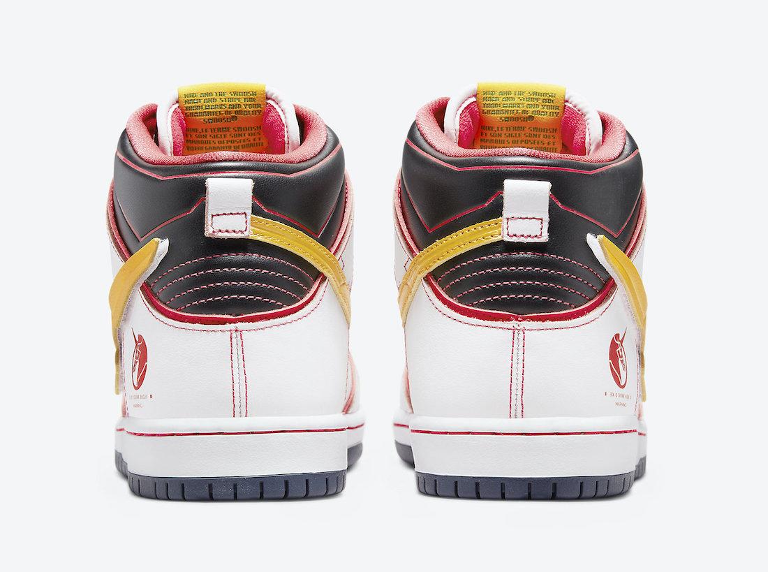 Gundam Nike SB Dunk High DH7717-100 Release Info Price