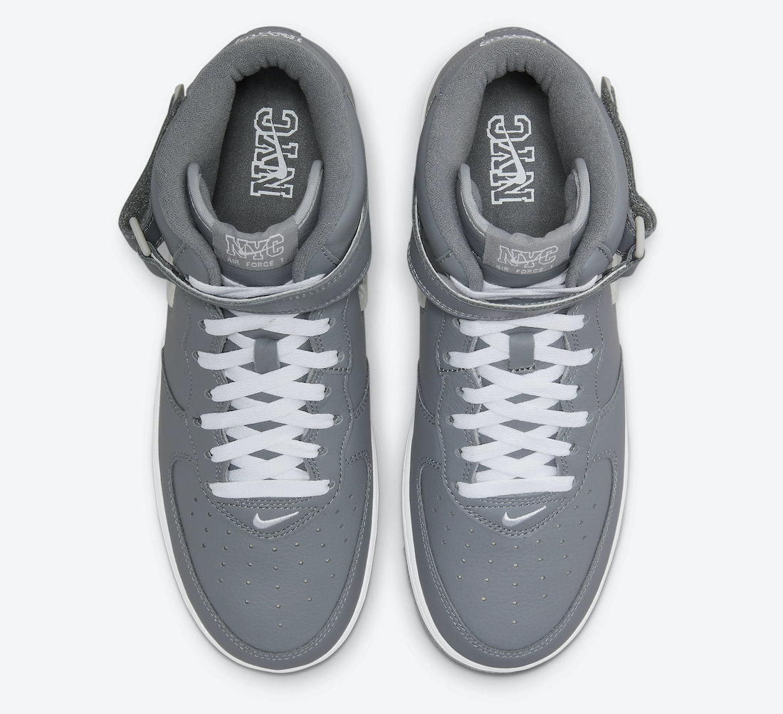 Nike Air Force 1 Mid NYC Cool Grey DH5622-001 Release Date Info