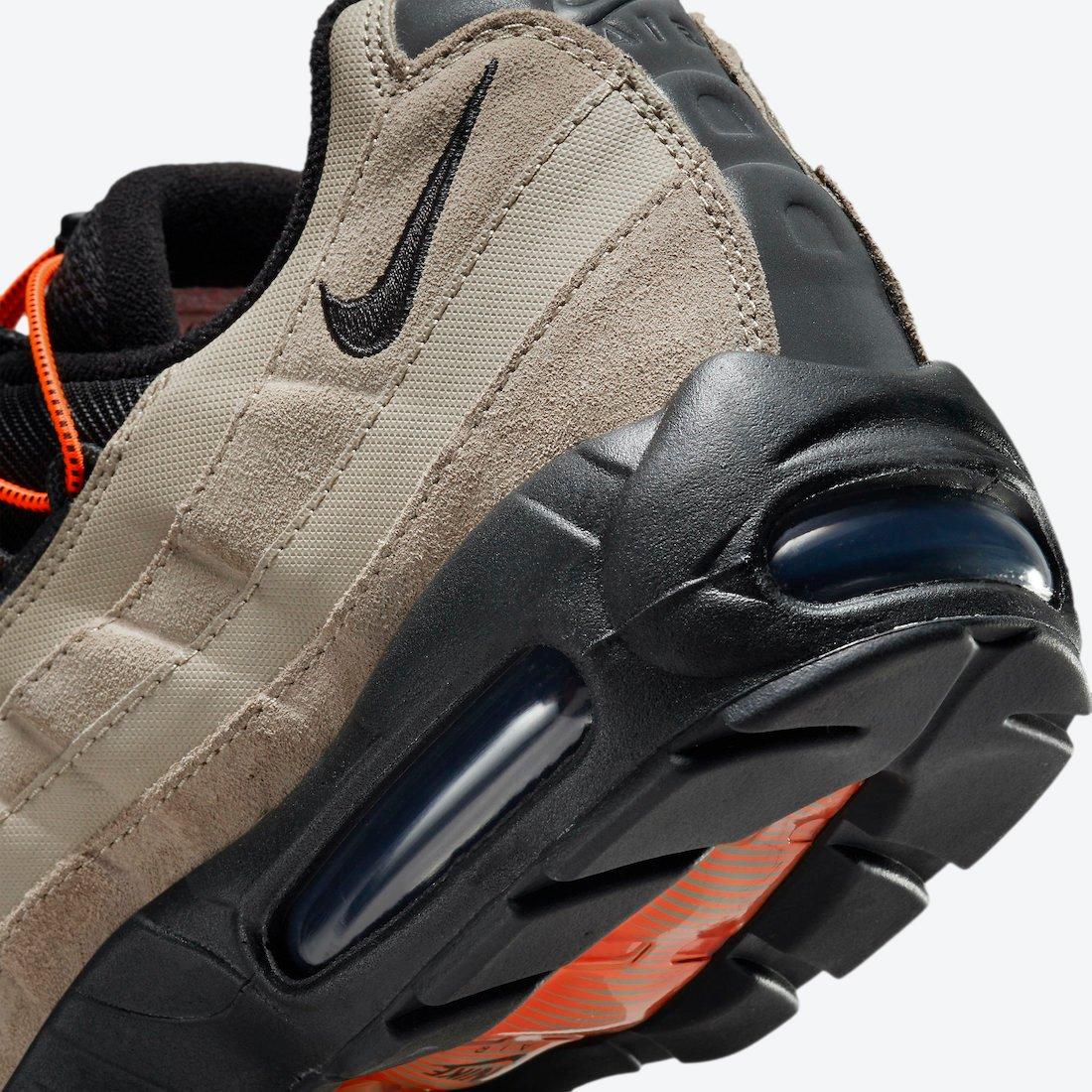 Nike Air Max 95 Khaki Total Orange Black DO6391-200 Release Date Info