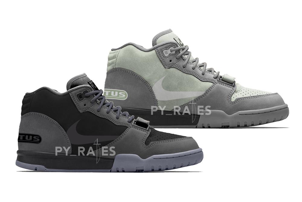 Travis Scott Nike Air Trainer 1 Light Smoke Grey Dark Smoke Grey 2022 Release Date Info